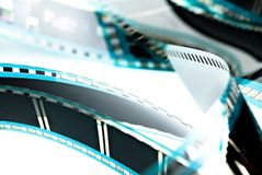 Blank celluloid cinema film. Strip isolated on white Royalty Free Stock Photography