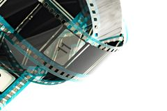 Blank celluloid cinema film Royalty Free Stock Photos