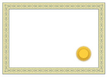 Blank Certificate royalty free illustration