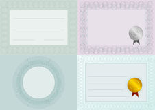 Blank Certificate Backgrounds Stock Images