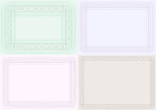 Blank Certificate Backgrounds Royalty Free Stock Photo