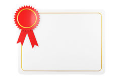 Blank Certificate Diploma Template. 3d Rendering Stock Photos