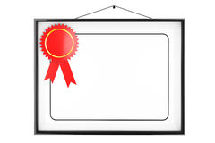 Blank Certificate Diploma Template. 3d Rendering Royalty Free Stock Photography