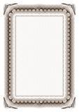 Blank certificate frame Stock Image