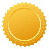 Blank certificate seal Stock Photos