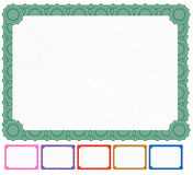 Blank Certificate - Set Stock Image