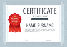 Blank Certified Border Template. Vector Illustration Royalty Free Stock Photos