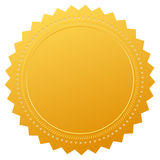 blank certifikatguaranteeskyddsremsa Royaltyfria Bilder