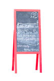 Blank Chalk Advertising Board. Royalty Free Stock Photo
