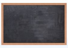 Blank Chalk Board. 3D Render of a Blank Chalk Board Stock Image