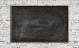 Blank chalk board Royalty Free Stock Photo