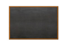 Blank chalk board. Empty chalk board isolated on white royalty free stock images