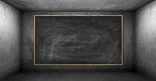 Blank chalk board Royalty Free Stock Photography
