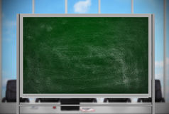 Blank chalk board Stock Photography