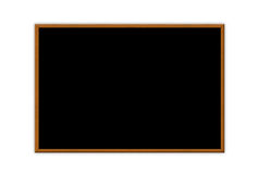 Blank chalk board Stock Photos