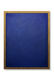 Blank chalk board and wood frame Stock Image