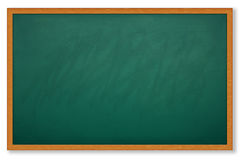 Blank chalk board and wood frame Royalty Free Stock Photo