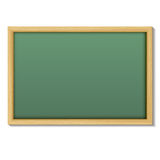 Blank chalk green board in a wood frame for write and teach on w Royalty Free Stock Photos