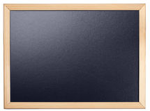 Blank chalkboard. Black blank chalkboard with wood frame Stock Images