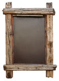 Blank chalkboard. A realistic chalkboard with wooden aged frame. Image with work path royalty free stock images