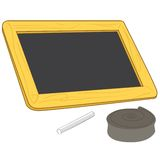 Blank chalkboard vector Royalty Free Stock Photos