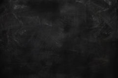 Blank chalkboard, blackboard texture Stock Photos
