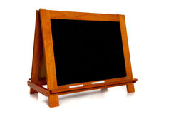 Blank Chalkboard or Blackboard on white Stock Images