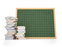 Blank chalkboard with book Royalty Free Stock Photo