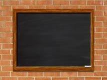 Blank chalkboard on brick Royalty Free Stock Photos