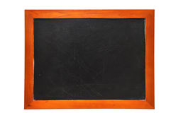 Blank Chalkboard (with clipping path). Blank chalkboard isolated on white background with clipping path Stock Image