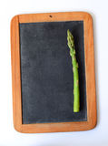 Blank Chalkboard with Fresh Asparagus Stock Photography