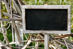 Blank chalkboard gardening sign Royalty Free Stock Photo