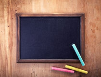 Blank chalkboard Royalty Free Stock Photos
