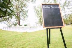 Blank chalkboard sign royalty free stock photo