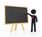 Blank chalkboard with Teacher Royalty Free Stock Photo