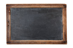Blank chalkboard. Blank vintage chalkboard isolated on white Royalty Free Stock Photos