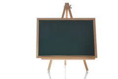 Blank chalkboard on white background. Education concept and space for input text idea Royalty Free Stock Image