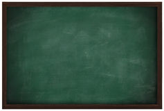 Blank chalkboard and wood frame Royalty Free Stock Images