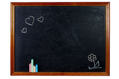 Blank chalkboard in wooden frame Royalty Free Stock Images