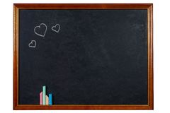 Blank chalkboard in wooden frame Royalty Free Stock Photo