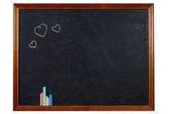 Blank chalkboard in wooden frame Royalty Free Stock Photo