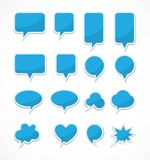 Blank chat Bubbles Stock Photo