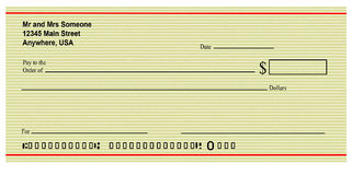 Blank Check Royalty Free Stock Images