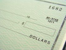 Blank Check. Ready for writing payment Royalty Free Stock Image