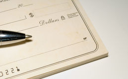 Blank Check stock photography