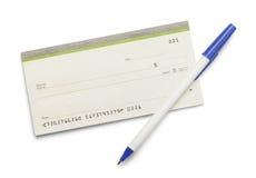 Checkbook Pen Royalty Free Stock Photos