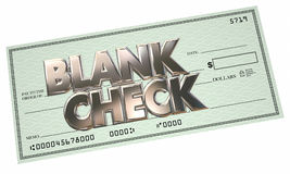 Blank Check Money Free Opportunity Make Earn Income Stock Photos