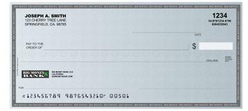 Blank Check. A realistic representation of a blank check Stock Photos