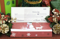 Blank check from Santa Royalty Free Stock Image