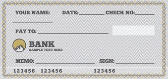 Blank check Royalty Free Stock Photos